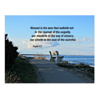 El 1:1 Blessed del salmo es el hombre ese walketh  Tarjeta Postal