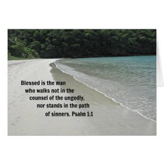 El 1:1 Blessed del salmo es el hombre… Tarjeta De Felicitación