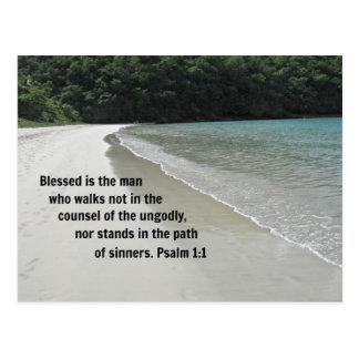 El 1:1 Blessed del salmo es el hombre… Tarjeta Postal