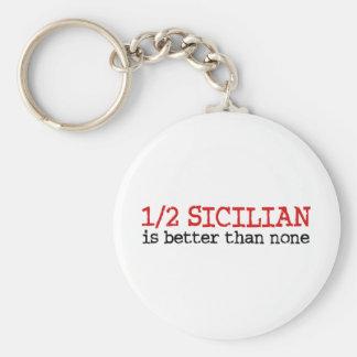El 1/2 siciliano llavero redondo tipo pin