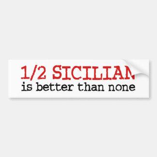 El 1 2 siciliano pegatina de parachoque