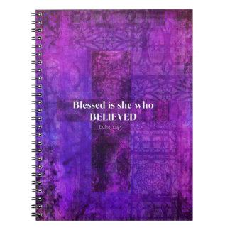 El 1:45 Blessed de Lucas es ella que creyó Spiral Notebook