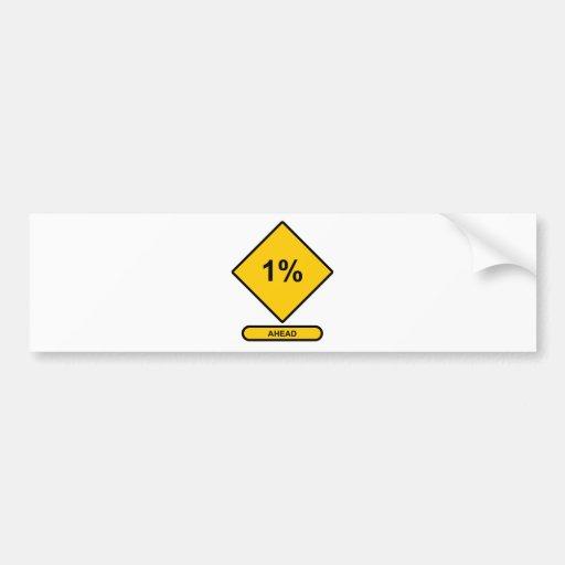 El 1 por ciento a continuación pegatina para auto