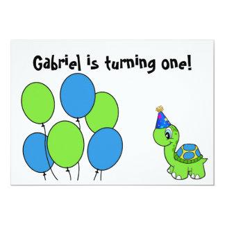 """El 1r cumpleaños de Gabriel Invitación 5"""" X 7"""""""