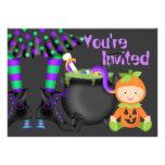 El 1r cumpleaños de Halloween del bebé lindo de la Comunicados Personales
