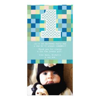 El 1r cumpleaños del bebé le agradece nota de la tarjetas fotograficas