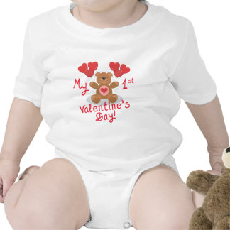 El 1r el día de San Valentín del bebé Camiseta