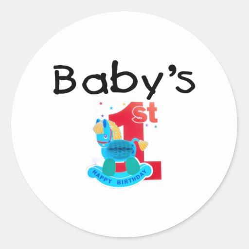 El 1r feliz cumpleaños del bebé etiqueta