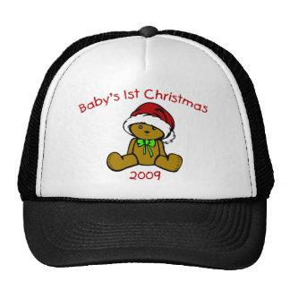El 1r navidad 2009 (oso del bebé de peluche) gorra