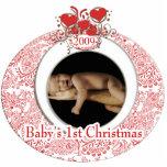 El 1r navidad del bebé escultura fotográfica