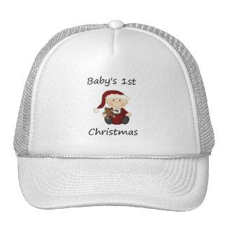 El 1r navidad del bebé (muchacho) gorros