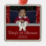 El 1r navidad del bebé ornamentos para reyes magos
