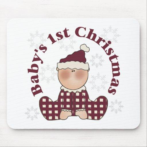 El 1r navidad del bebé tapete de ratón