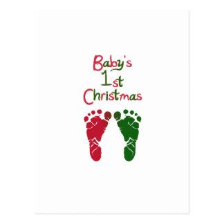 El 1r navidad del bebé postales