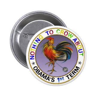 El 1r término de Obama Pin Redondo 5 Cm