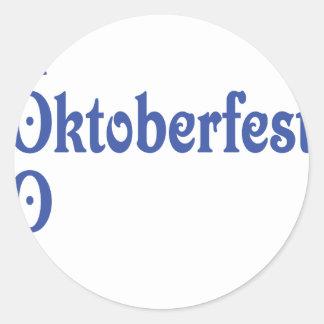 el 2009 más oktoberfest pegatina redonda
