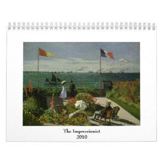 El 2010 impresionista calendarios de pared