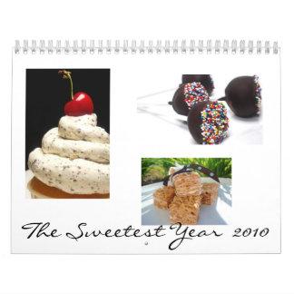 El 2010 más dulce calendario de pared