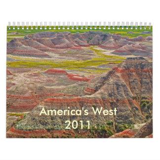 El 2011 del oeste de América Calendario