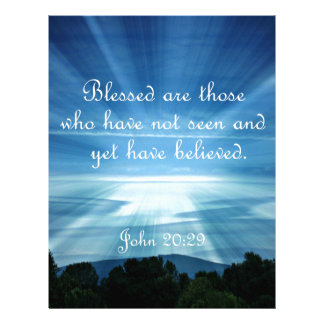 El 20:29 Blessed de Juan es los que no han visto Plantilla De Membrete