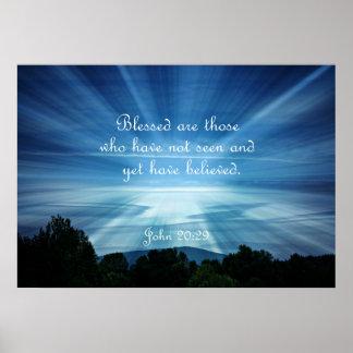 El 20:29 Blessed de Juan es los que no han visto Póster