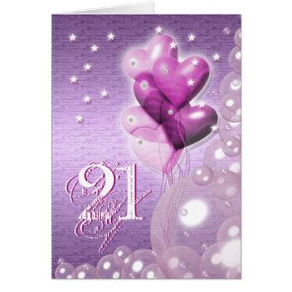 El 21ro cumpleaños feliz hincha brillante felicitaciones