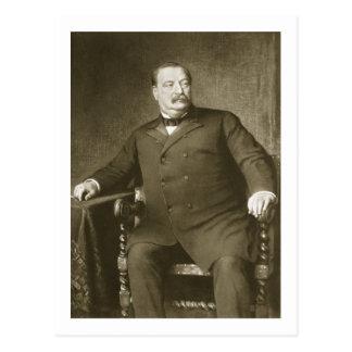 El 22do y el 24to presidente de Grover Cleveland,  Tarjeta Postal