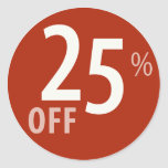 El 25% potente de la muestra de la VENTA - pegatin
