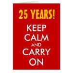 el 25to aniversario de boda el | guarda calma y co tarjeton