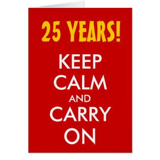 el 25to aniversario de boda el guarda calma y co tarjeton