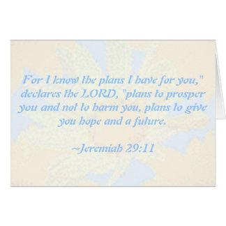 El 29:11 de Jeremiah Margarita-Modeló la tarjeta d