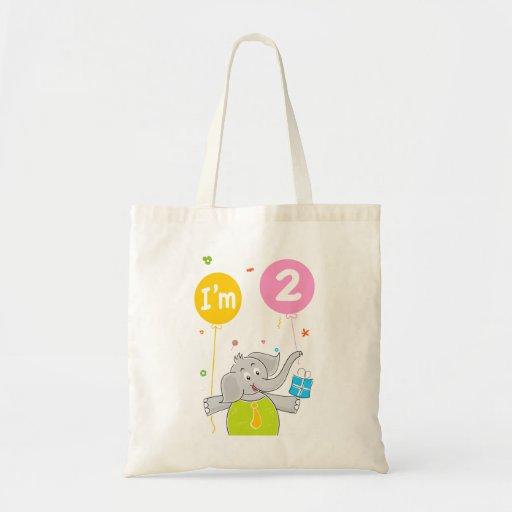 El 2do cumpleaños del niño bolsas