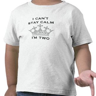 El 2do cumpleaños del niño divertido no puedo camisetas