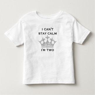 El 2do cumpleaños del niño divertido no puedo tshirts