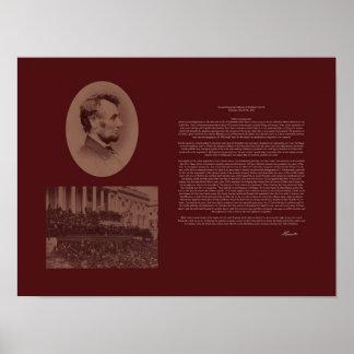 El 2do discurso inaugural de Lincoln Póster