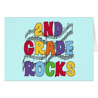 El 2do grado multicolor oscila las camisetas y los tarjeta de felicitación