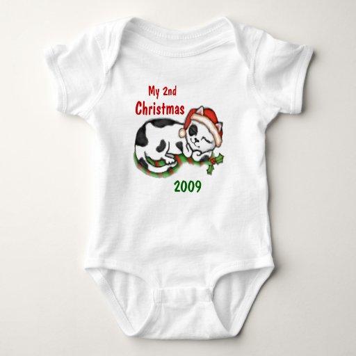 El 2do navidad del bebé/personalizado de la polera