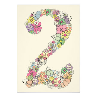 """El 2do personalizado de la fiesta de cumpleaños de invitación 5"""" x 7"""""""
