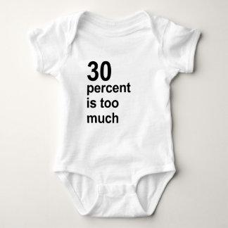 el 30 por ciento es demasiado camiseta