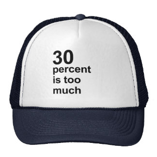 el 30 por ciento es demasiado gorro