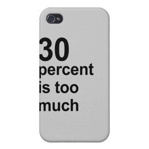 el 30 por ciento es demasiado iPhone 4 carcasa