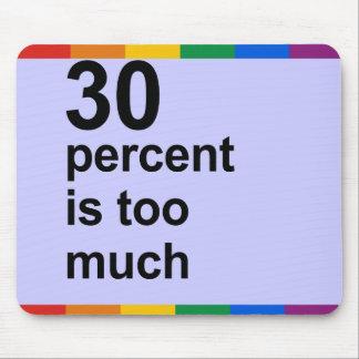 el 30 por ciento es demasiado alfombrilla de ratones