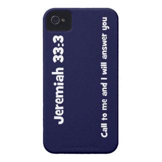 El 33:3 de Jeremiah, la llamada a mí y yo vendrán Case-Mate iPhone 4 Carcasa