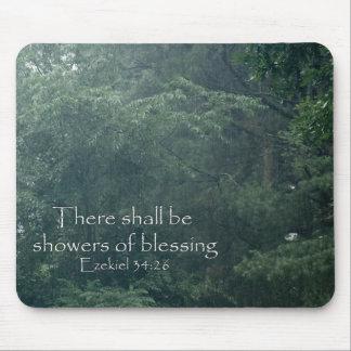 El 34 26 de Ezekiel allí será duchas de la bendici Tapete De Ratón