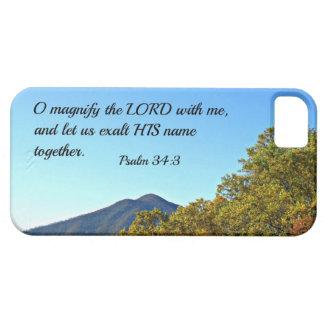 El 34:3 O del salmo magnifica al señor conmigo… Funda Para iPhone 5 Barely There
