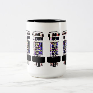EL 34 Tubes Two-Tone Coffee Mug
