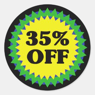 El 35% del pegatina de la VENTA AL POR MENOR