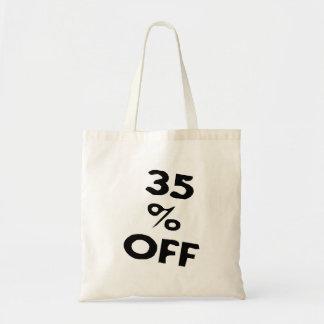 El 35 por ciento apagado bolsa tela barata