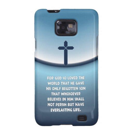 El 3:16 de Juan para dios amó tan el mundo Samsung Galaxy SII Carcasa