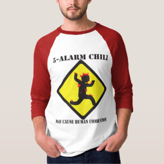 """El 3/4"""" de 5 de la alarma hombres del chile camisa"""